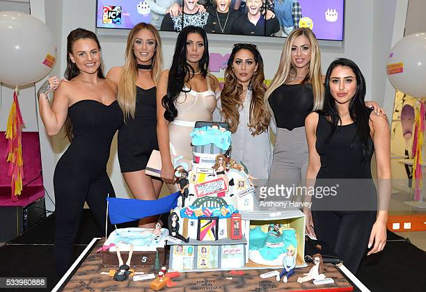 Charlotte Crosby Holly Hagan Chloe Etherington Chantelle Connelly Marnie Simpson and Sophie Kasaei of Geordie Shore celebrate their fifth birthday at...