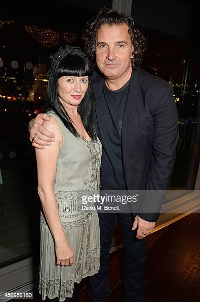 Charlotte Cutler and Ant Genn attend the launch party as Mondrian London opens its doors on London's South Bank at Mondrian Hotel on October 9 2014...