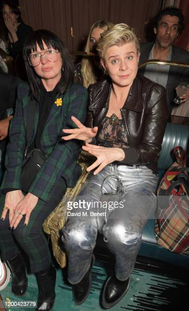Charlotte Cutler and Robyn attend the NME Awards after party in association with Copper Dog at The Standard on February 12 2020 in London England