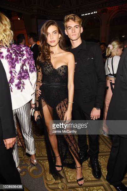 Charlotte D'alessio and Presley Gerbe attend as Harper's BAZAAR Celebrates ICONS By Carine Roitfeld at the Plaza Hotel on September 7 2018 in New...
