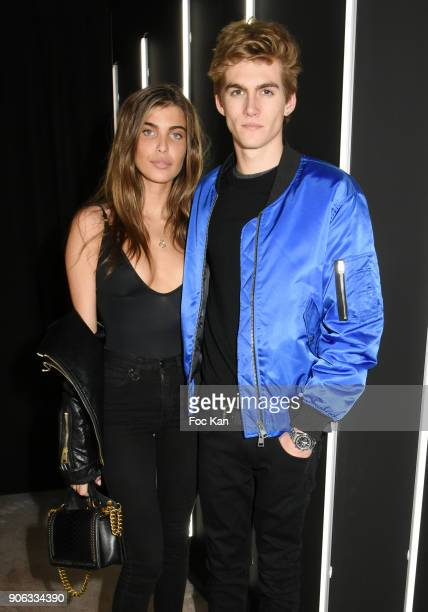 Charlotte Dalessio and Presley Gerber attend YSL Beauty Party During Paris Fashion Week Menswear Fall/Winter 20182019 on January 17 2018 in Paris...