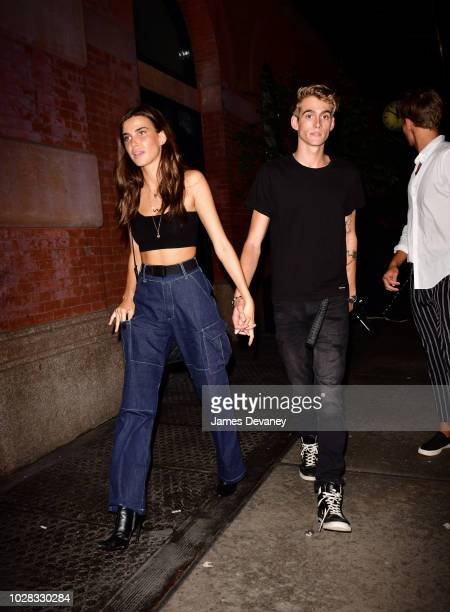 Charlotte D'Alessio and Presley Gerber leave the Mercer Hotel on September 6 2018 in New York City