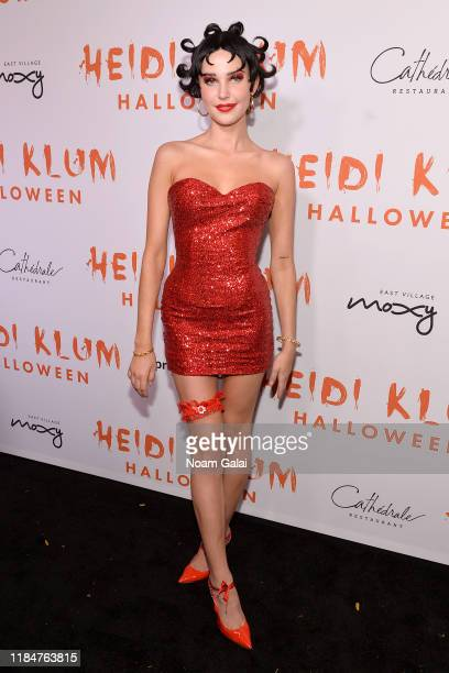 Charlotte D'Alessio attends Heidi Klum's 20th Annual Halloween Party presented by Amazon Prime Video and SVEDKA Vodka at Cathédrale New York on...