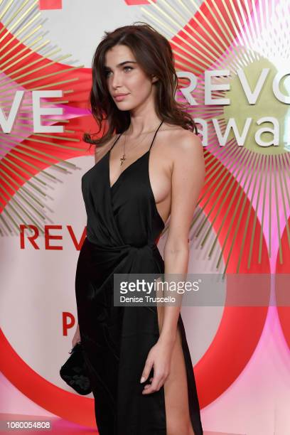 Charlotte D'Alessio attends REVOLVE Presents The 2nd Annual #REVOLVEawards at Palms Casino Resort on November 9 2018 in Las Vegas Nevada