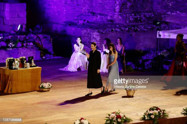 Charlotte Dauphin attends the closing night of the Taormina Film Festival on July 19 2020 in Taormina Italy