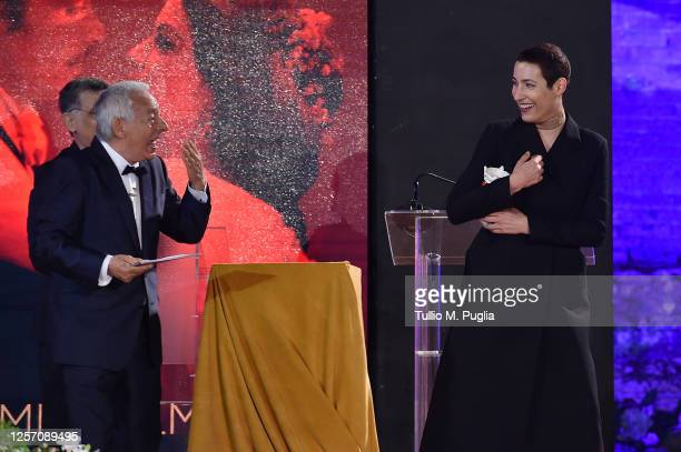 Charlotte Dauphin de La Rochefoucauld attends the closing night of the Taormina Film Festival on July 19 2020 in Taormina Italy