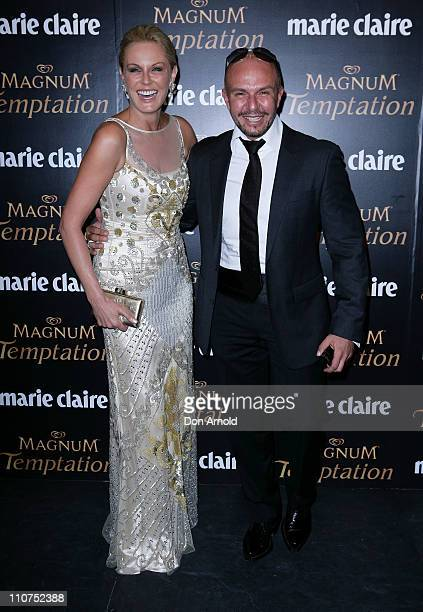 Charlotte Dawson and Alex Perry arrive at the 2011 Prix De Marie Claire Awards at Fox Studios on March 24 2011 in Sydney Australia