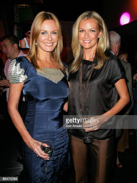 Charlotte Dawson and Sarah Murdoch attend the 2009 MCN Upfront party celebrating upcoming programming available on FOXTEL via the Multi Channel...