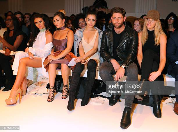 Charlotte Dawson Lauryn Goodman Katie Salmon and Sam Giffen attend the House of Mea show at Fashion Scout during London Fashion Week Spring/Summer...