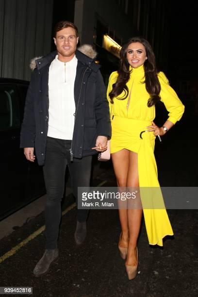 Charlotte Dawson leaving Lucky Voice karaoke club on March 28 2018 in London England