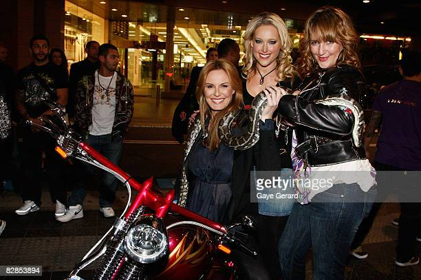 Charlotte Dawson Model Ali Mutch and Radio Host Bianca Dye arrives for the official launch party for the new Ed Hardy Bondi Junction stores at The...