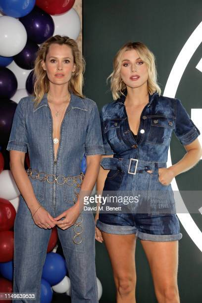 Charlotte de Carle and Ashley James attend KOBOX New Flagship studio launch party on King's Road on May 16 2019 in London England