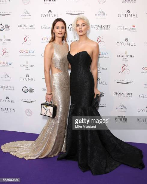 Charlotte de Carle and Ashley James attend The Global Gift Gala London held at Corinthia Hotel London on November 18 2017 in London England