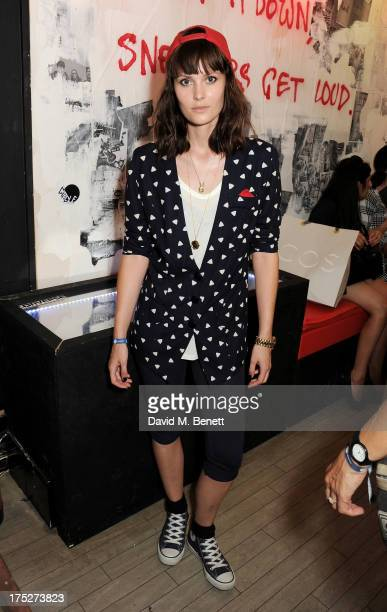 Charlotte de Carle attends Converse At The Circle celebrating the Chuck Taylor All Star 'Rock Craftsmanship' collection on August 1 2013 in London...