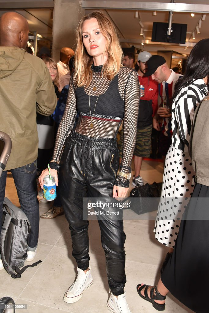 Charlotte de Carle attends the launch of 'Super Sharp Reloaded', a new installation and pop-up shop by Saul Milton and Tory Turk, presented by Selfridges and Reebok at Selfridges on August 9, 2018 in London, England.