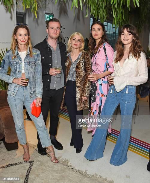 Charlotte de Carle Sam Doyle Sydney Lima Frankie Herbert and Sai Bennett attends Lulu Guinness x Kodak Party on May 23 2018 in London England