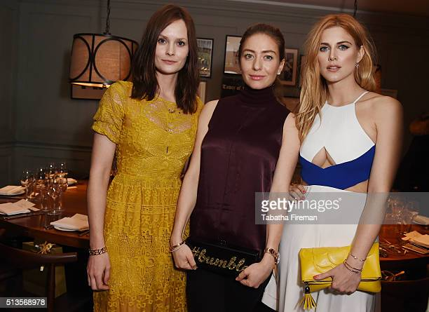 Charlotte De Carle Whitney Wolfe and Ashley James attend a private dinner hosted by Whitney Wolfe founder and CEO of Bumble dating app at Soho House...