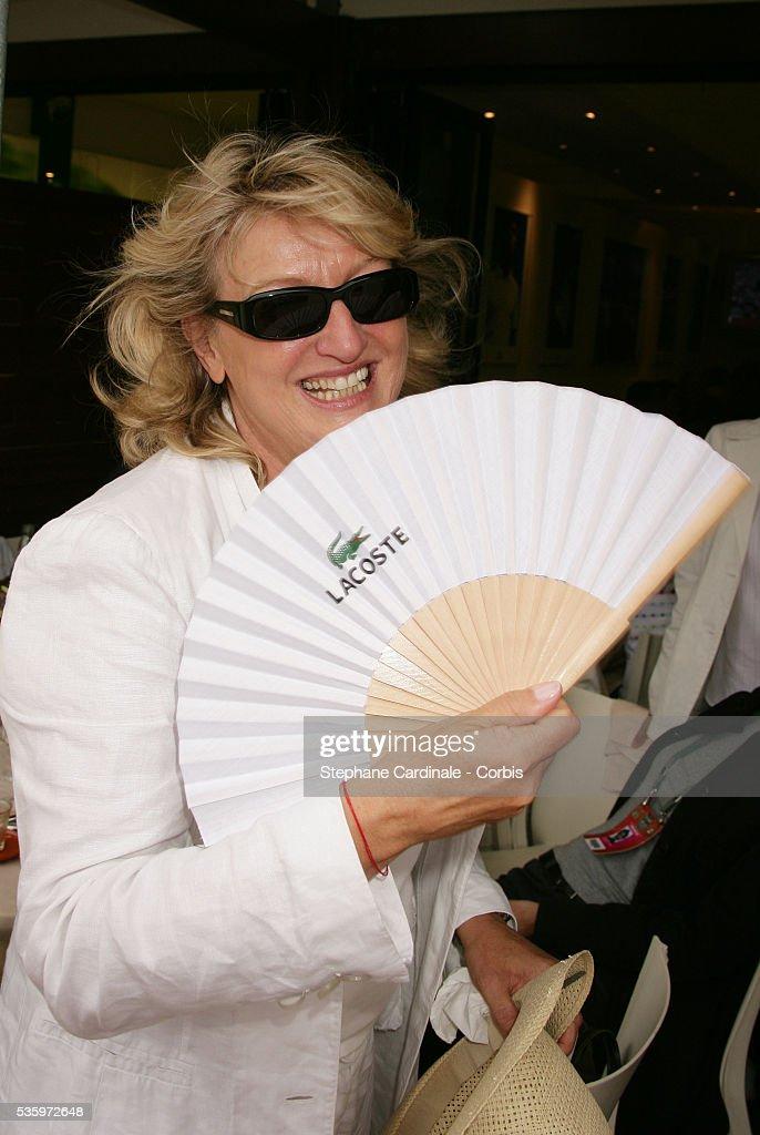 Charlotte de Turckeim visits Roland Garros village during the 2005 French Open tennis.