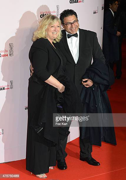 Charlotte de Turckheim and a guest arrive at the 39th Cesar Film Awards 2014 at Theatre du Chatelet on February 28 2014 in Paris France