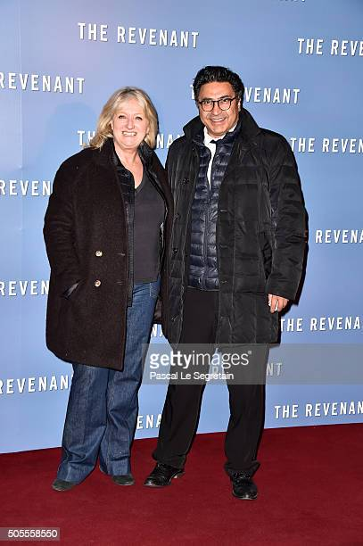 Charlotte de Turckheim and her companion attend the 'Revenants' Premiere at Le Grand Rex on January 18 2016 in Paris France