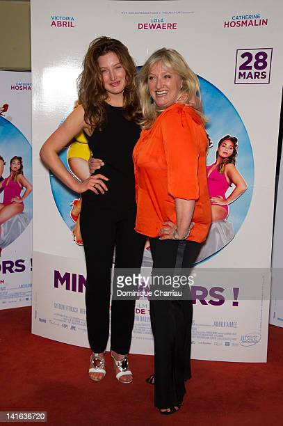 Charlotte de Turckheim and her daughter Julia Piaton attend at UGC Cine Cite des Halles on March 20 2012 in Paris France