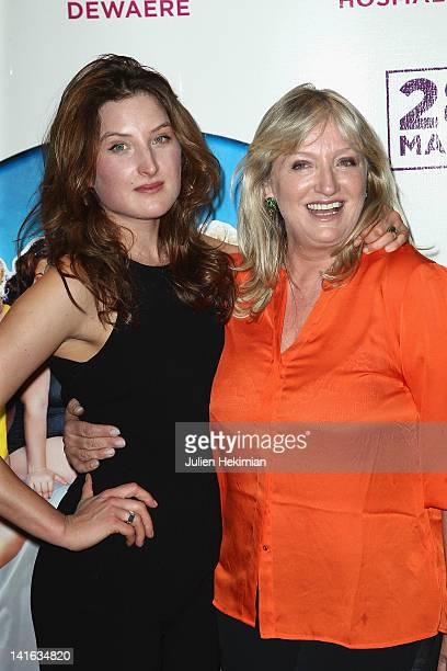Charlotte de Turckheim and her daughter Julia Piaton attend 'Oh Mince' Paris premiere at UGC Cine Cite des Halles on March 20 2012 in Paris France