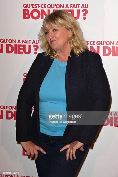 Charlotte de Turckheim attends the 'Qu'estce Qu'on A Fait Au Bon Dieu' Paris Premiere at Le Grand Rex on April 10 2014 in Paris France
