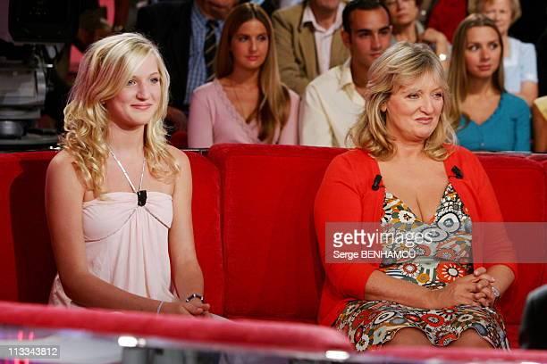 Charlotte De Turckheim On Vivement Dimanche Tv Show On August 30Th 2006 In Paris France Here Charlotte De Turckheim And Her Daughter Johanna Piaton