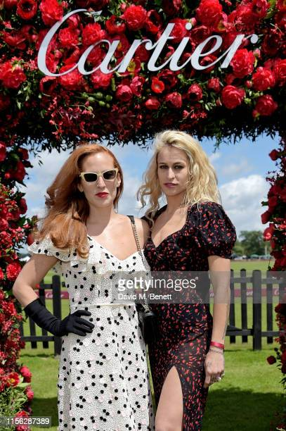 Charlotte Dellal and Alice Dellal attend Cartier Queen's Cup Polo 2019 on June 16, 2019 in Windsor, England.