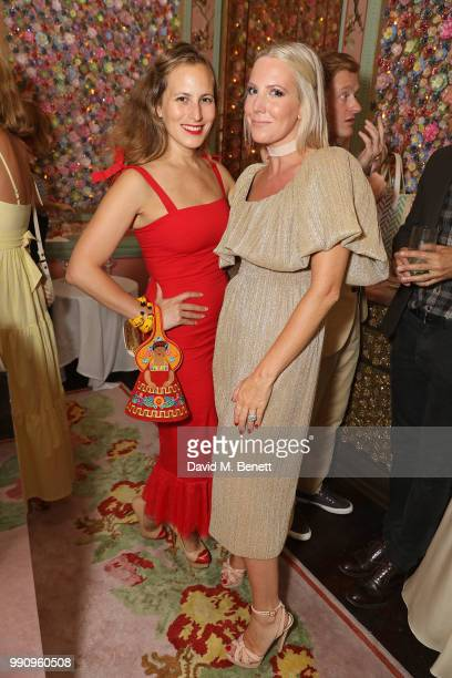Charlotte Dellal and Alice NaylorLeyland attend the Mrs Alice x Misela launch event at Annabel's on July 3 2018 in London England