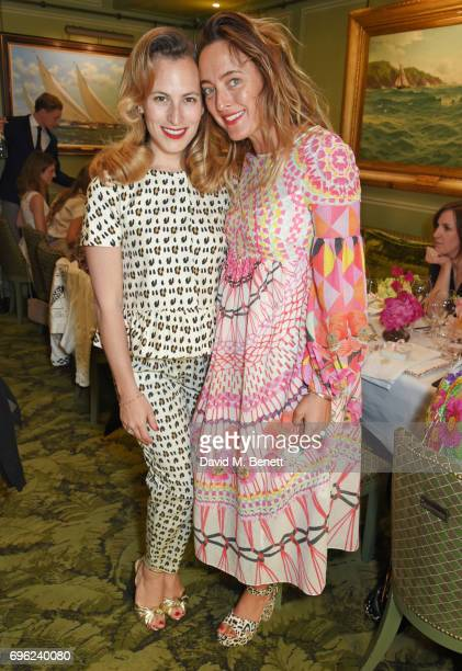 Charlotte Dellal and Alice Temperley attend a lunch to celebrate Veuve Clicquot by Charlotte Olympia at Mark's Club on June 15 2017 in London England