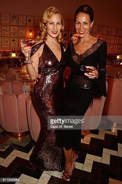 Charlotte Dellal and Andrea Dellal attend as James Gager Senior Vice President Group Creative Director of MAC Cosmetics and Charlotte Olympia Dellal...