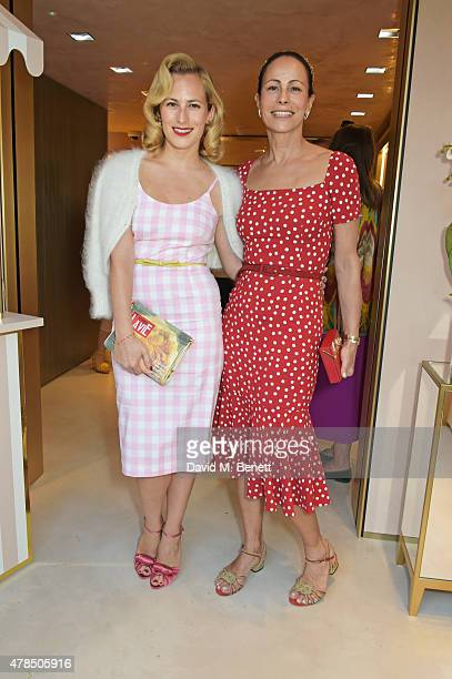 Charlotte Dellal and Andrea Dellal attend the opening of the Charlotte Olympia Brompton Cross store on June 25 2015 in London England