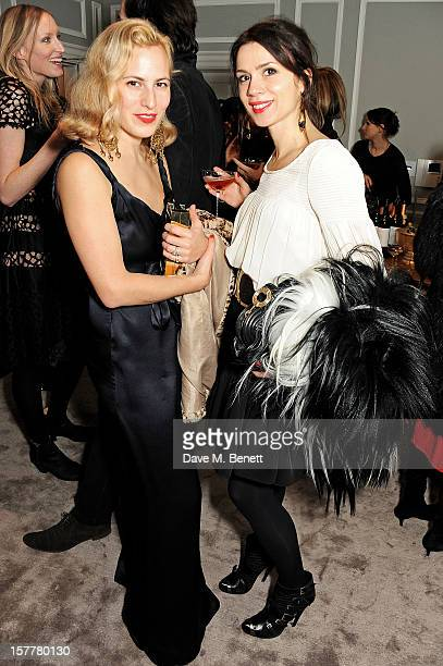 Charlotte Dellal and Lara Bohinc attend the launch of Temperley London's Mayfair flagship store on December 6 2012 in London England