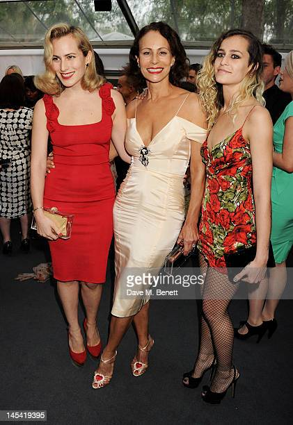 Charlotte Dellal Andrea Dellal and Alice Dellal arrive at the Glamour Women of the Year Awards in association with Pandora at Berkeley Square Gardens...