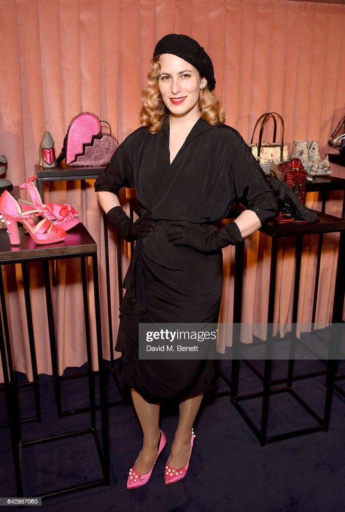 Charlotte Dellal at the Charlotte Olympia AW17 presentation on February 19, 2017 in London, England.