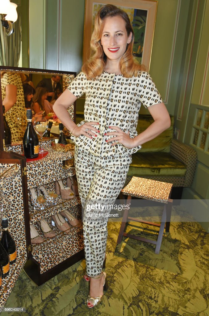 Charlotte Dellal attends a lunch to celebrate Veuve Clicquot by Charlotte Olympia, at Mark's Club on June 15, 2017 in London, England.