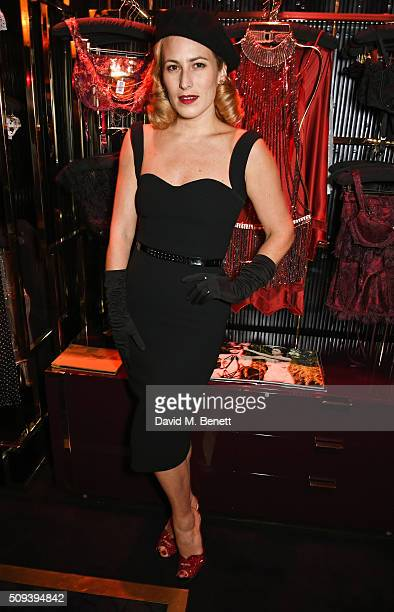 Charlotte Dellal attends an intimate cocktail event hosted at Agent Provocateur Grosvenor Street boutique to celebrate the launch of the Agent...
