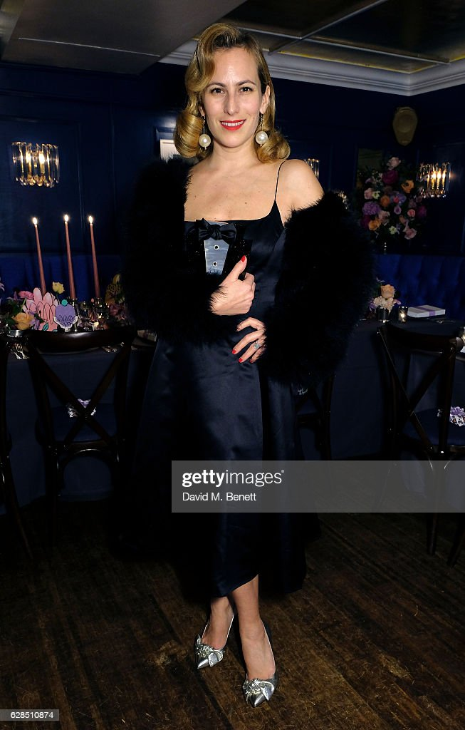 Charlotte Dellal attends an intimate dinner to celebrate the launch of the Charlotte Olympia for Paperless Post stationary collaboration at the new private members club Alberts on December 7, 2016 in London, England.