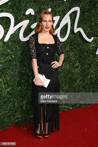 Charlotte Dellal attends the British Fashion Awards at London Coliseum on December 1 2014 in London England