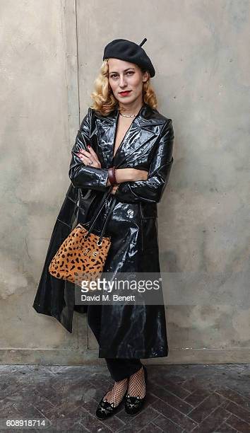 Charlotte Dellal attends the Isa Arfen presentation during London Fashion Week Spring/Summer collections 2017 on September 20 2016 in London United...