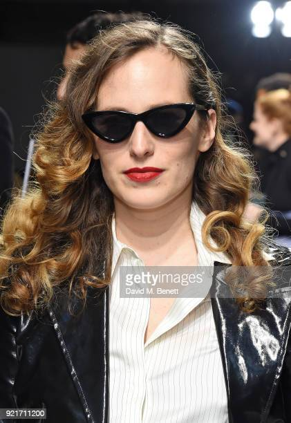 Charlotte Dellal attends the Isa Arfen show during London Fashion Week February 2018 at Eccleston Place on February 20 2018 in London England