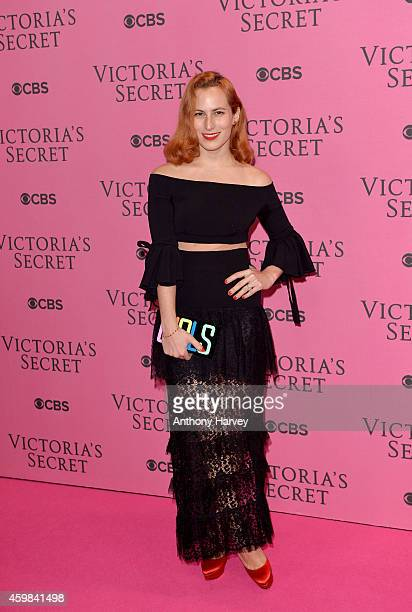 Charlotte Dellal attends the pink carpet of the 2014 Victoria's Secret Fashion Show on December 2 2014 in London England