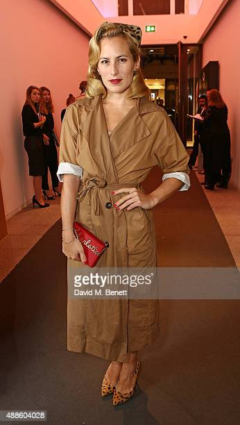 Charlotte Dellal attends the She Inspires Art charity auction in aid of Women For Women International at Bonhams on September 16 2015 in London...