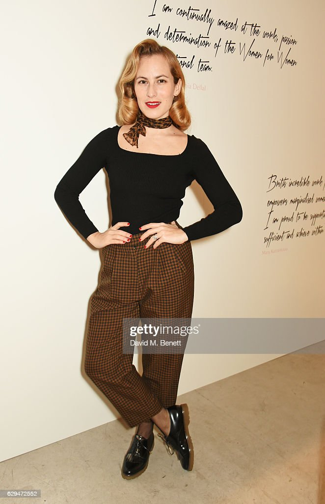 Charlotte Dellal attends the VIP launch of #SheInspiresMe Fashion, a limited edition designer collaboration in aid of Women For Women International, at Maiyet on December 13, 2016 in London, England.