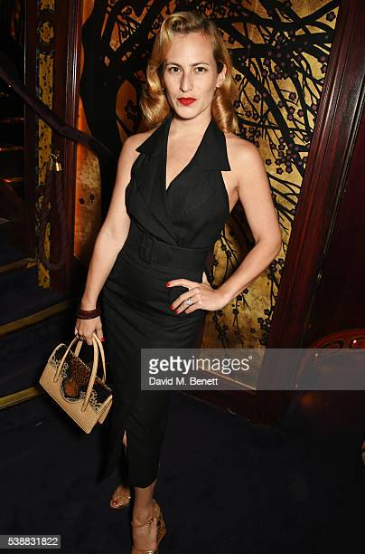 Charlotte Dellal attends Zac Posen's dinner to celebrate his first women's collection for Brooks Brothers at Loulou's on June 8 2016 in London England