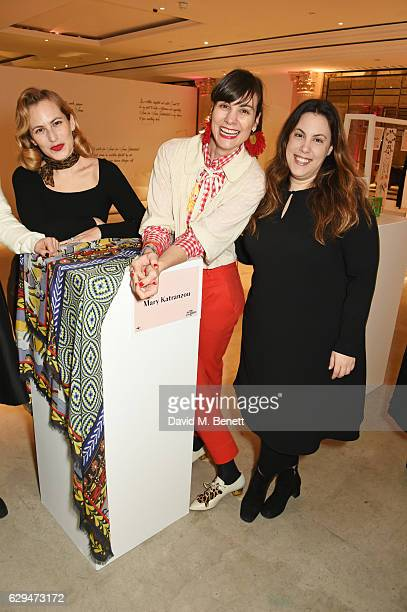 Charlotte Dellal Maria Kastani and Mary Katrantzou attend the VIP launch of #SheInspiresMe Fashion a limited edition designer collaboration in aid of...