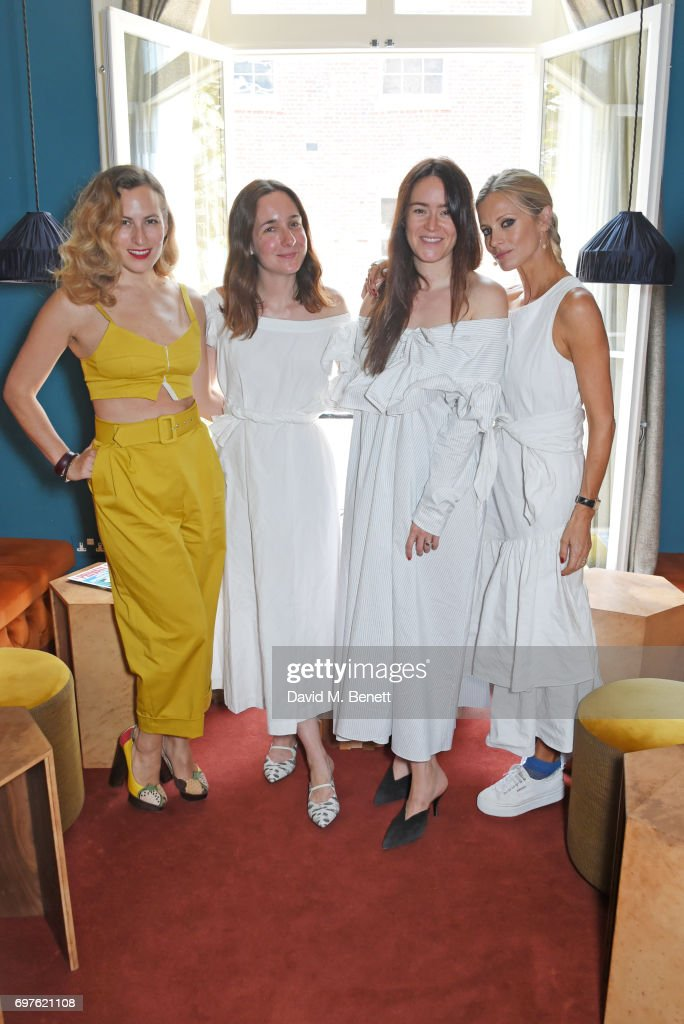 Charlotte Dellal, Serafina Sama, Alex Eagle and Laura Bailey attend the Isa Arfen x Alex Eagle lunch at The Chess Club on June 19, 2017 in London, England.