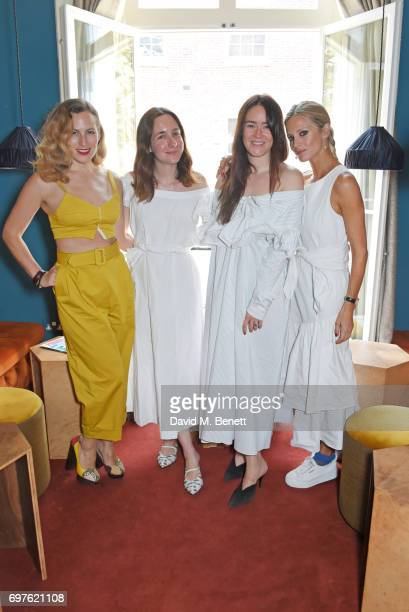 Charlotte Dellal Serafina Sama Alex Eagle and Laura Bailey attend the Isa Arfen x Alex Eagle lunch at The Chess Club on June 19 2017 in London England