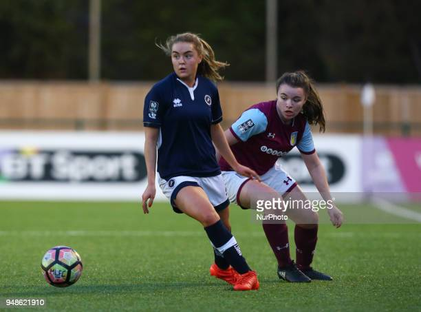 Charlotte Devlin of Millwall Lionesses L during FA Women's Super League 2 match between Millwall Lionesses and Aston Villa Ladies FC at St Paul's...